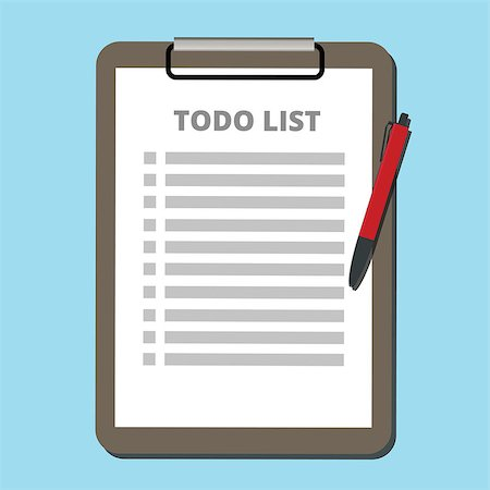 to do list concept tasklist with clipboard vector illustration Stock Photo - Budget Royalty-Free & Subscription, Code: 400-08551864