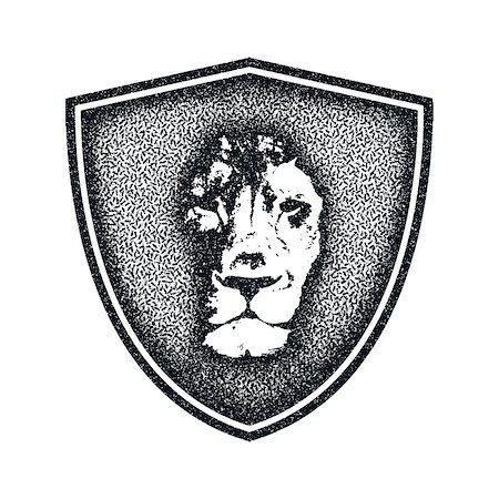 roar lion head picture - Lion face logo emblem. Vector Vintage Design Element. Stock Photo - Budget Royalty-Free & Subscription, Code: 400-08552225