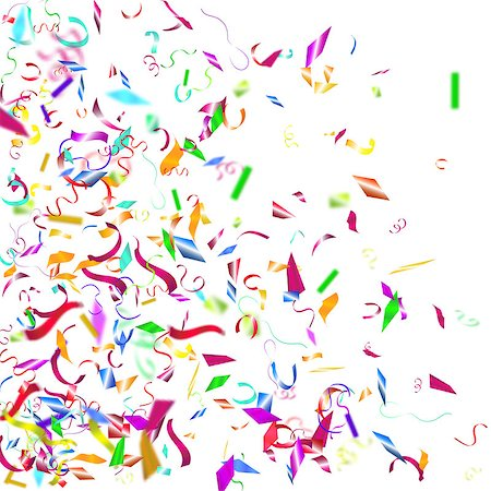 Abstract colorful confetti background. Isolated on the white. Vector holiday illustration. Stock Photo - Budget Royalty-Free & Subscription, Code: 400-08552696