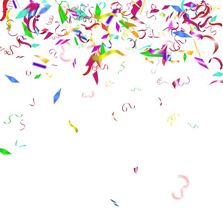 simsearch:400-04369855,k - Abstract colorful confetti background. Isolated on the white. Vector holiday illustration. Stock Photo - Budget Royalty-Free & Subscription, Code: 400-08552697