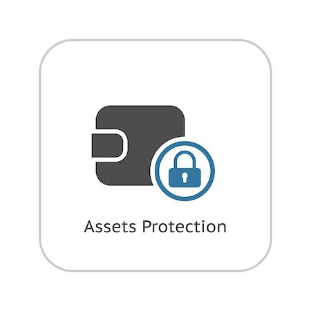 Assets Protection Icon. Flat Design. Business Concept Isolated Illustration. Stock Photo - Budget Royalty-Free & Subscription, Code: 400-08572383