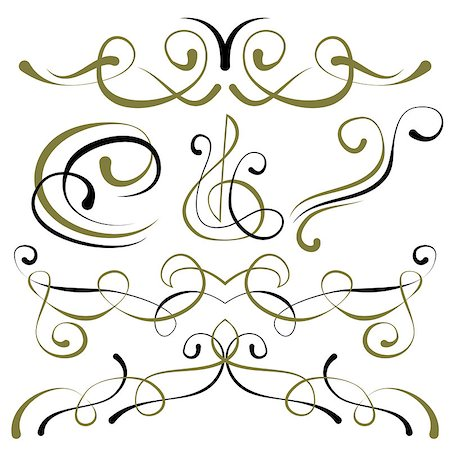pzromashka (artist) - vector set of elements for design. decorative borders Stock Photo - Budget Royalty-Free & Subscription, Code: 400-08614482