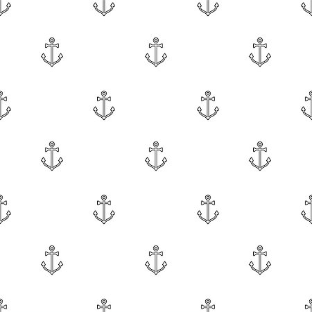 seamless - Line art summer beach backround, seamless pattern, vector illustration Stock Photo - Budget Royalty-Free & Subscription, Code: 400-08625408