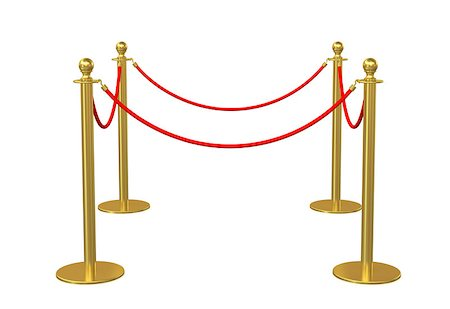 queue club - Four poles golden barricade isolate on white background. 3D illustration Stock Photo - Budget Royalty-Free & Subscription, Code: 400-08628303