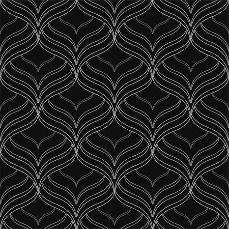 seamless floral - Black elegant seamless vector pattern for your design. Stock Photo - Budget Royalty-Free & Subscription, Code: 400-08628326