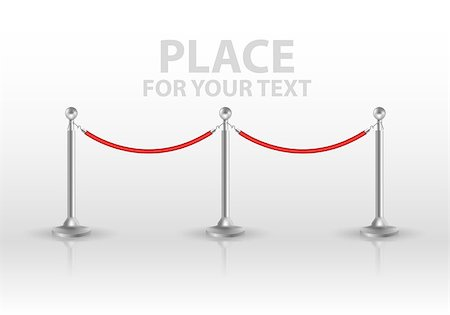 queue club - Tiled stand barriers isolated on white background. vector EPS10 Stock Photo - Budget Royalty-Free & Subscription, Code: 400-08646235
