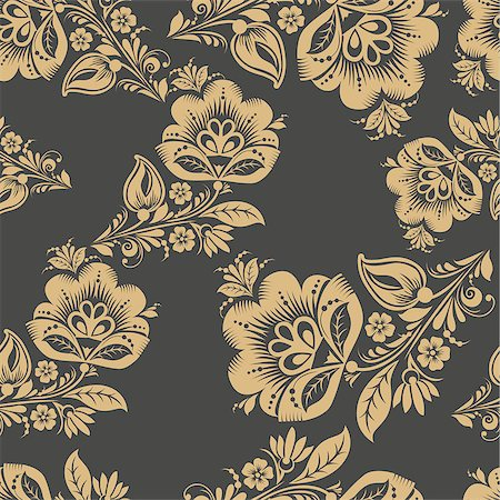 seamless floral - Romantic seamless floral pattern. Seamless pattern can be used for wallpaper, pattern fills, web page backgrounds, surface textures. vector background. Eps 8 Stock Photo - Budget Royalty-Free & Subscription, Code: 400-08650583