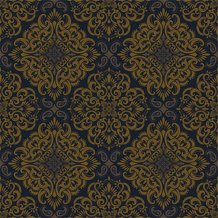 seamless floral - Seamless pattern based on traditional Asian elements Paisley. Boho vintage style vector background. Best motive for print on fabric or papper. Stock Photo - Budget Royalty-Free & Subscription, Code: 400-08676514