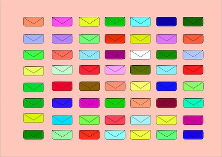 illustration which shows the little colored envelopes for light backgrounds Stock Photo - Budget Royalty-Free & Subscription, Code: 400-08677597