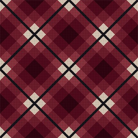 seamless - Diagonal seamless vector fabric pattern mainly in marsala color with dark gray lines Stock Photo - Budget Royalty-Free & Subscription, Code: 400-08677902