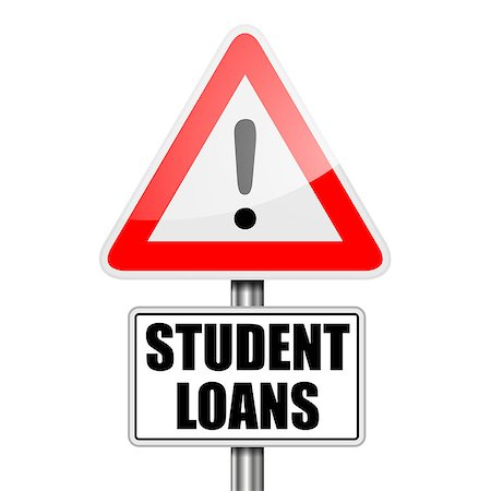 education loan - detailed illustration of a red attention Student Loans sign, eps10 vector Stock Photo - Budget Royalty-Free & Subscription, Code: 400-08678287