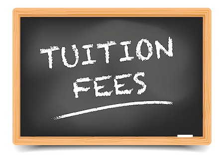 education loan - detailed illustration of a blackboard with Tuition Fees text, eps10 vector, gradient mesh included Stock Photo - Budget Royalty-Free & Subscription, Code: 400-08678282