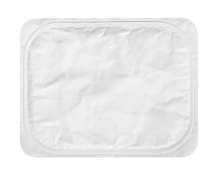 silver box - Top view of rectangular aluminum foil cover food tray isolated on white background with clipping path Stock Photo - Budget Royalty-Free & Subscription, Code: 400-08679976