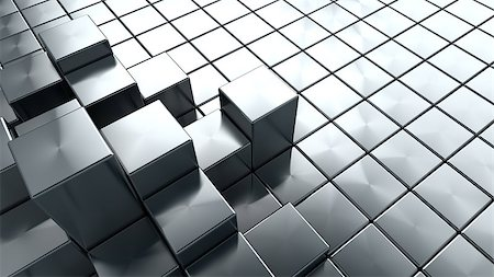 silver box - abstract 3d illustration of steel cubes background Stock Photo - Budget Royalty-Free & Subscription, Code: 400-08670777