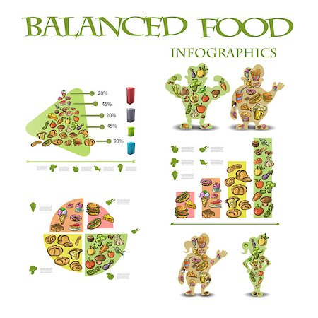 info graphics health diet. Vector illustration EPS10 Stock Photo - Budget Royalty-Free & Subscription, Code: 400-08671201