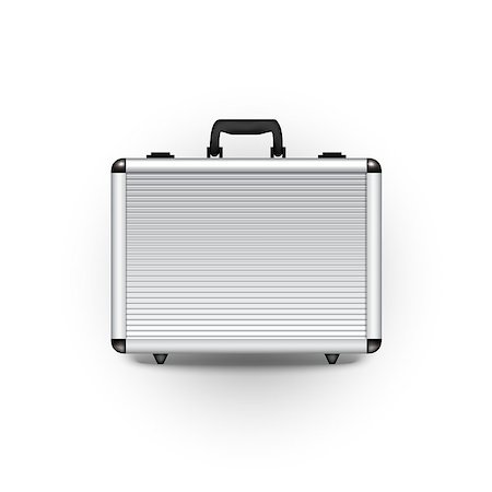 silver box - Vector metal briefcase office object design finance Stock Photo - Budget Royalty-Free & Subscription, Code: 400-08681132