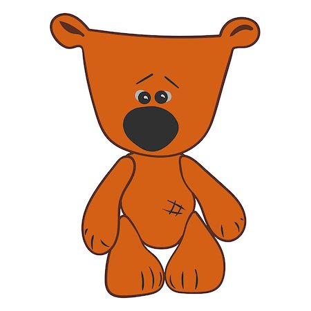simsearch:400-04598294,k - cartoon character bear Hand drawn doodle vector illustration Stock Photo - Budget Royalty-Free & Subscription, Code: 400-08709533
