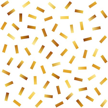 falling confetti with white background - Vector Seamless Golden Jumble Lines Pattern. Abstract Geometric Background Design Stock Photo - Budget Royalty-Free & Subscription, Code: 400-08734574