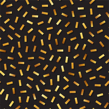 falling confetti with white background - Vector Seamless Golden Confetti Jumble Lines Pattern. Abstract Geometric Background Design Stock Photo - Budget Royalty-Free & Subscription, Code: 400-08734612