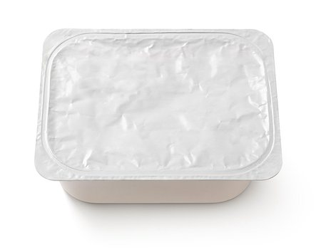 silver box - Top view of rectangular aluminum foil cover food tray isolated on white background with clipping path Stock Photo - Budget Royalty-Free & Subscription, Code: 400-08734741