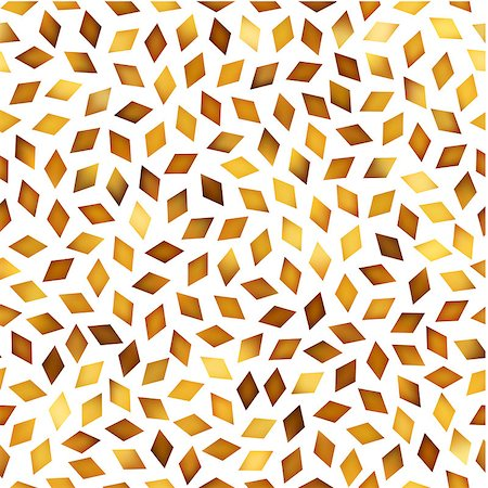 falling confetti with white background - Vector Seamless Golden Gradient Rhombus Jumble Pattern. Abstract Geometric Background Design Stock Photo - Budget Royalty-Free & Subscription, Code: 400-08735319