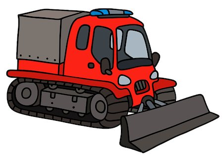 snow plow truck - Hand drawing of a red snowgroomer Stock Photo - Budget Royalty-Free & Subscription, Code: 400-08754336