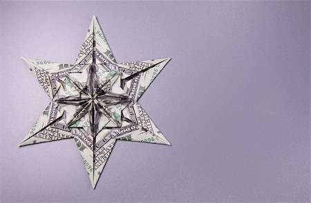 simsearch:400-05936191,k - snowflake origami made of banknotes dollar Handmade Stock Photo - Budget Royalty-Free & Subscription, Code: 400-08774299