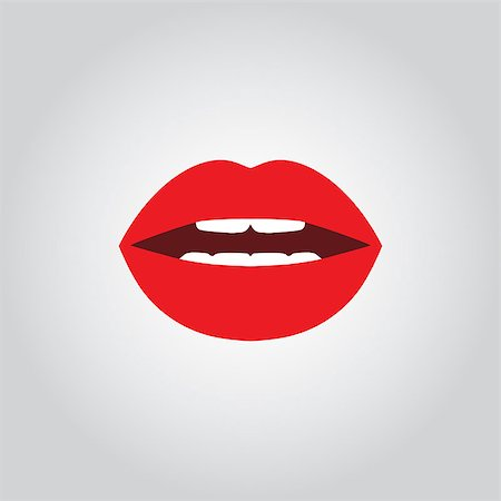 simsearch:400-04801287,k - Vector icon of sexy female open mouth with lips Stock Photo - Budget Royalty-Free & Subscription, Code: 400-08774390