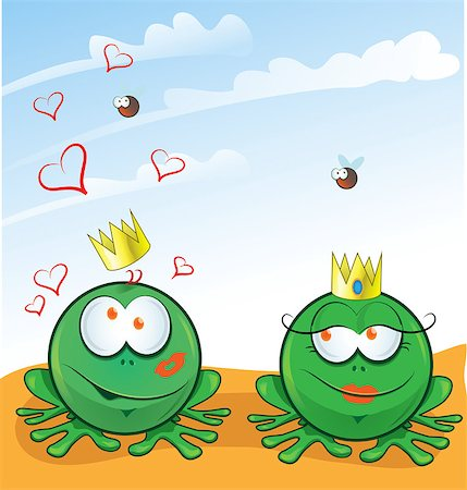 couple frog in love on background Stock Photo - Budget Royalty-Free & Subscription, Code: 400-08785195