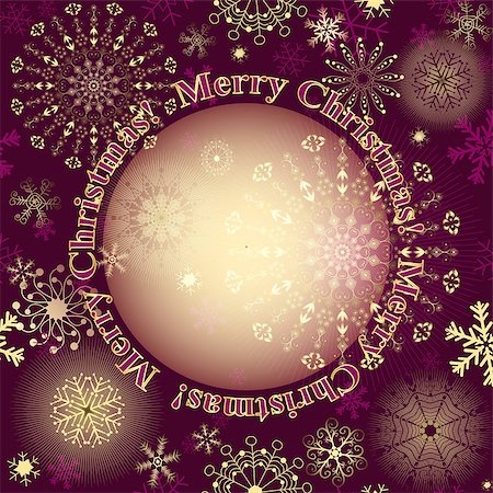 pink and purple fireworks - Christmas purple greeting card with lacy snowflakes and translucent gold label, vector eps10 Stock Photo - Budget Royalty-Free & Subscription, Code: 400-08785926