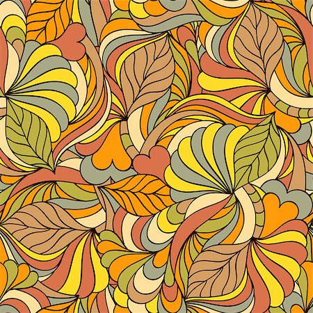 seamless floral - Vector illustration of colorful abstract seamless pattern. Stock Photo - Budget Royalty-Free & Subscription, Code: 400-08794826