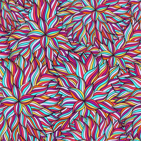 seamless floral - Vector illustration of colorful abstract seamless pattern. Stock Photo - Budget Royalty-Free & Subscription, Code: 400-08794831