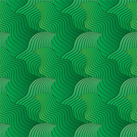 simsearch:400-04638538,k - Color seamless abstract hand-drawn pattern, waves background. Vector illustration.Eps 10. Stock Photo - Budget Royalty-Free & Subscription, Code: 400-08794844
