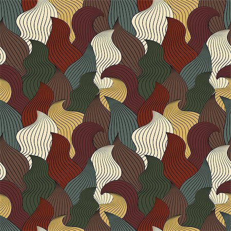 simsearch:400-04638538,k - Color seamless abstract hand-drawn pattern, waves background. Vector illustration.Eps 10. Stock Photo - Budget Royalty-Free & Subscription, Code: 400-08794846