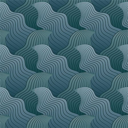 simsearch:400-04638538,k - Color seamless abstract hand-drawn pattern, waves background. Vector illustration.Eps 10. Stock Photo - Budget Royalty-Free & Subscription, Code: 400-08794842