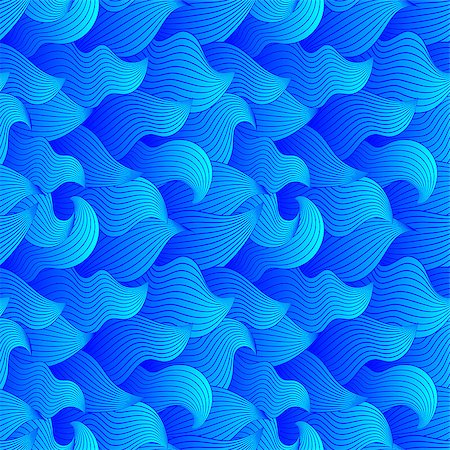 simsearch:400-04638538,k - Color seamless abstract hand-drawn pattern, waves background. Vector illustration.Eps 10. Stock Photo - Budget Royalty-Free & Subscription, Code: 400-08794888