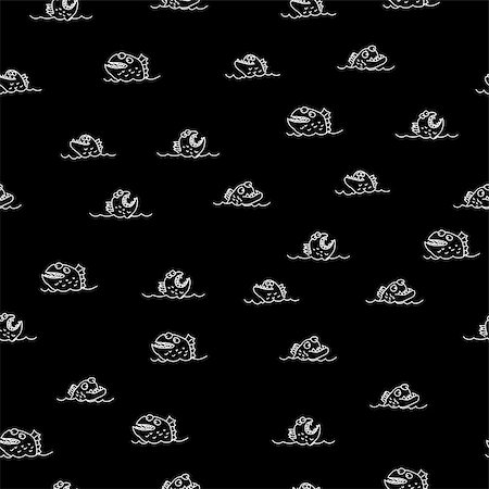 piranha fish - Piranha seamless pattern. Many bloodthirsty marine predators. Marine vector background. Texture of Evil fish. Flock of dangerous Piranha Stock Photo - Budget Royalty-Free & Subscription, Code: 400-08815258