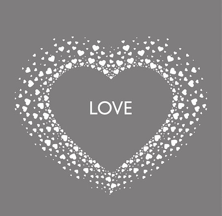 falling confetti with white background - Vector Decoration heart, romantic valentine hearts with place for text Stock Photo - Budget Royalty-Free & Subscription, Code: 400-08818889