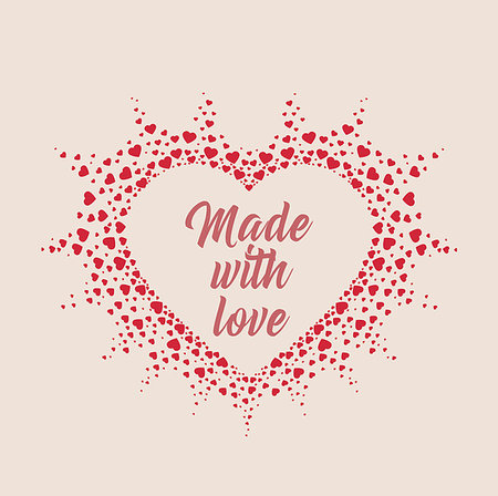 falling confetti with white background - Vector Decoration heart, romantic valentine hearts with place for text Stock Photo - Budget Royalty-Free & Subscription, Code: 400-08818892