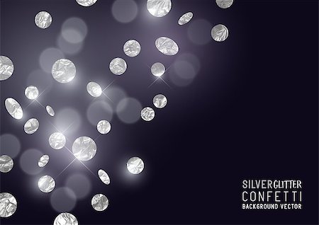 party paper falling - A luxury background design with falling glitter and sparkling metallic silver confetti. Vector illustration. Stock Photo - Budget Royalty-Free & Subscription, Code: 400-08835853