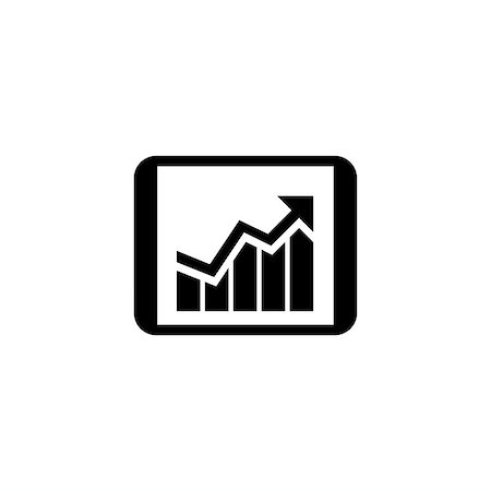 report icon - Business Progress Icon. Business Concept. Flat Design. Isolated Illustration. Stock Photo - Budget Royalty-Free & Subscription, Code: 400-08917137