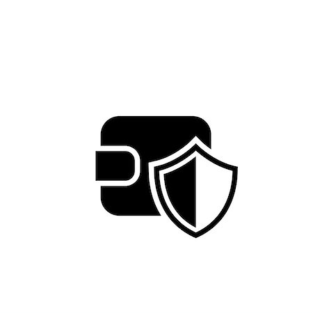 Wallet Protection Icon. Flat Design. Business Concept Isolated Illustration. Stock Photo - Budget Royalty-Free & Subscription, Code: 400-08918790