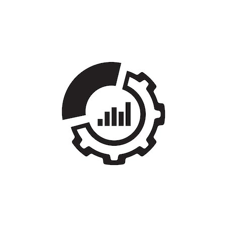 report icon - Set Up Analytics Icon. Business and Finance. Isolated Illustration. Circle Diagram with Gear. Stock Photo - Budget Royalty-Free & Subscription, Code: 400-08919850