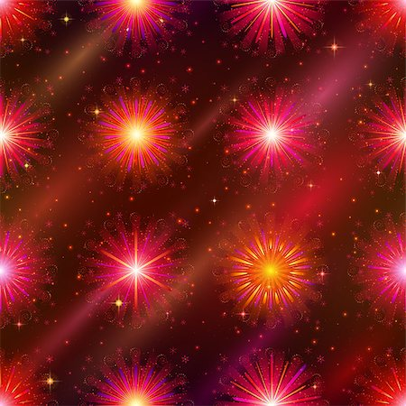 pink and purple fireworks - Firework background seamless of red, orange and pink colors. Pattern for holiday design. Eps10, contains transparencies. Vector Stock Photo - Budget Royalty-Free & Subscription, Code: 400-08966713