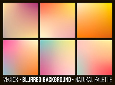 Blurred abstract backgrounds set. Smooth template design for creative decor covers, banners and websites Stock Photo - Budget Royalty-Free & Subscription, Code: 400-08961982