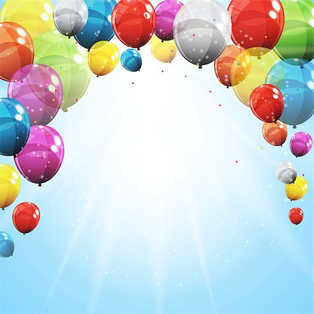 Group of Colour Glossy Helium Balloons with Blank Page Isolated on Transparent Background. Vector Illustration EPS10 Stock Photo - Budget Royalty-Free & Subscription, Code: 400-08978056