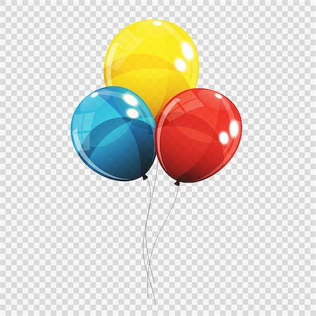 Group of Colour Glossy Helium Balloons Isolated on Transparent Background. Vector Illustration EPS10 Stock Photo - Budget Royalty-Free & Subscription, Code: 400-08978454