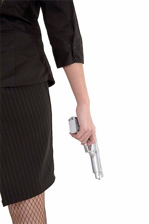 Gun by her side. Stock Photo - Budget Royalty-Free & Subscription, Code: 400-03914185