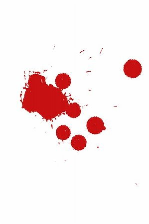 blood drops on white background Stock Photo - Budget Royalty-Free & Subscription, Code: 400-03914767