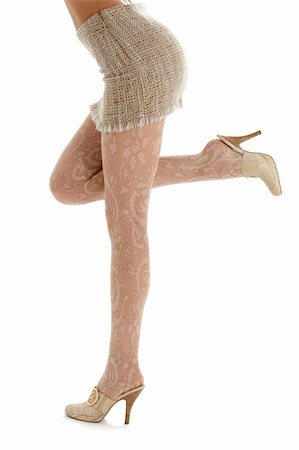 legs and back of lady in sacking skirt over white Stock Photo - Budget Royalty-Free & Subscription, Code: 400-03916049